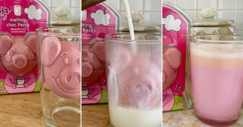 You can now buy a Percy Pig melting hot chocolate bomb