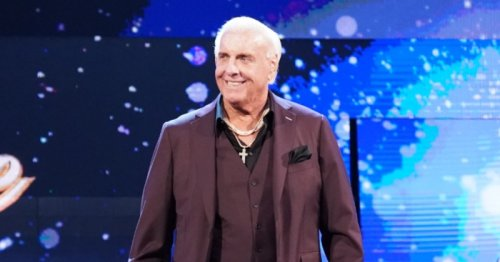 WWE legend Ric Flair refereeing SlapStrike battle before Jake Paul v Ben Askren fight