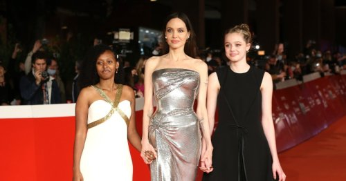 Angelina Jolie joined by daughters Zahara and Shiloh at star-studded Eternals premiere