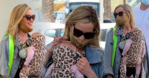 Laura Whitmore glows with excitement as she arrives in Spain for Love Island with baby daughter