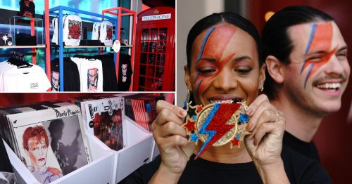 David Bowie pop-up shop opens in London to celebrate late star's 75th birthday