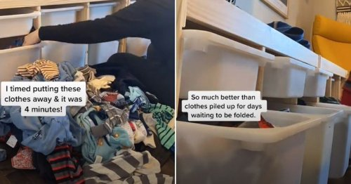 Mum vows to never fold toddlers' clothes again thanks to simple drawer system hack
