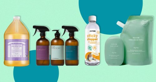 Reduce waste and save the planet with refillable cleaning goodies for your home