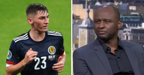 'He has a really good future ahead of him' – Patrick Vieira hails Billy Gilmour after Scotland's draw with England at Euro 2020