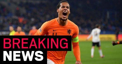 Virgil van Dijk pulls out of Holland's European Championships squad