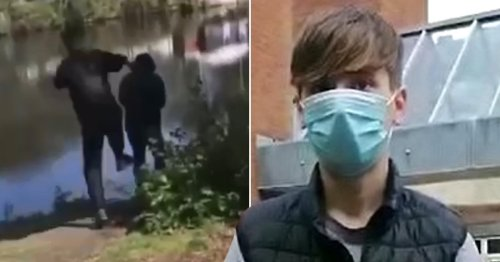 Teenager filmed on Snapchat kicking pensioner into river jailed for 10 weeks