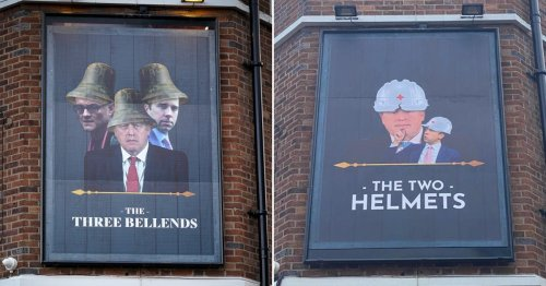 Three Bellends pub renamed The Two Helmets in new dig at Boris and Hancock