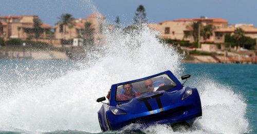 Egyptian inventors build a car that can drive on water