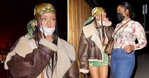 Rihanna is dressed for all weather as she slays dinner date fashion