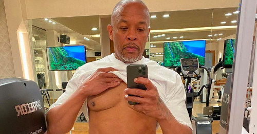 Dr Dre reveals his ripped 'Covid body' with six-pack after Will Smith's 'dad bod'