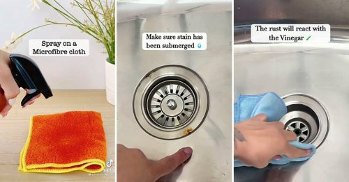 Woman shares easiest way to remove rust stains from your sink