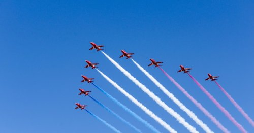 Full Red Arrows flypast times and route to Trooping the Colour at Windsor Castle