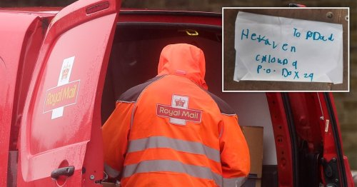 Postman saves girl's letter from bin after she gave Dad's address as 'heaven'