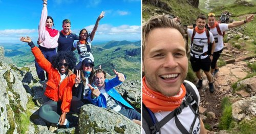 Olly Murs and Caroline Flack's friends complete first day of gruelling trek raising over £17,000
