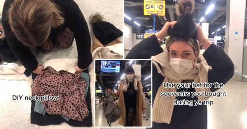 Clever travel hack shows how to pack for a flight with no baggage allowance