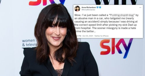 Naked Attraction's Anna Richardson left 'shaken' by vile abuse from road rage driver who almost caused crash