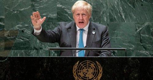 Boris says Kermit was wrong as he tells world leaders 'it is easy being green'