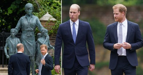 William namechecks Harry in touching speech as brothers' rift 'begins to heal'