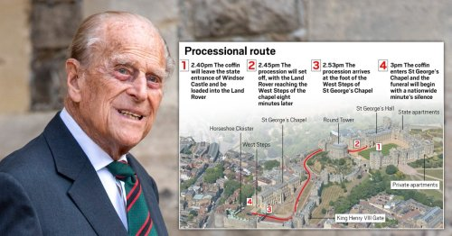 Prince Philip funeral: Full timeline of the procession and how to watch at home