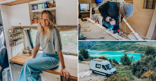 Woman quits her job to turn an old van into her dream motorhome – for just £10,000