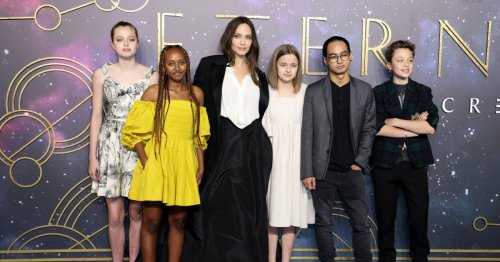 Angelina Jolie's daughter Shiloh borrows her stunning Dior dress for Eternals gala in London