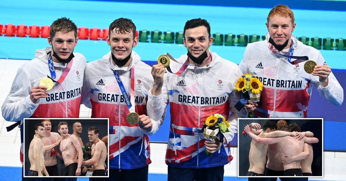 Team GB win sensational gold medal in 4x200m freestyle relay to make swimming history