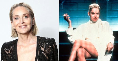 What did Sharon Stone say about Basic Instinct as she shuts down Adil Ray's questions?