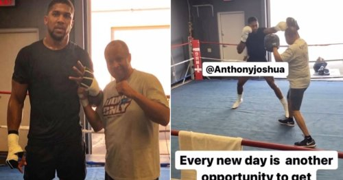 Anthony Joshua working with Mike Tyson's ex-trainer for Oleksandr Usyk rematch