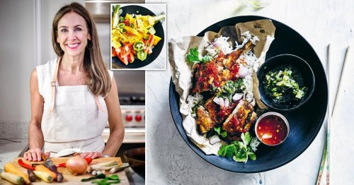 Delicious Asian-inspired crowd-pleasing recipes including Indonesian chicken and tropical fruit salad