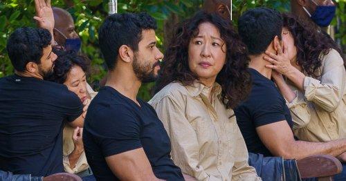 Sandra Oh kisses co-star Robert Gilbert on set of Killing Eve season 4 as filming steps up