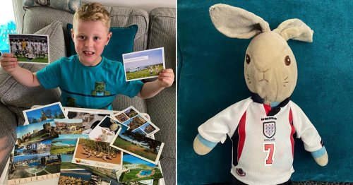 Boy who lost Peter Rabbit toy gets postcards from people around the world saying they're the rabbit on holiday
