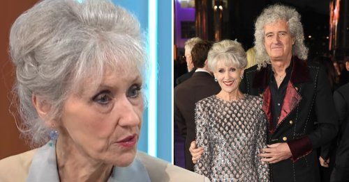 Anita Dobson was 'numbed with fear' during Brian May's series of health problems that 'something awful' would happen to him