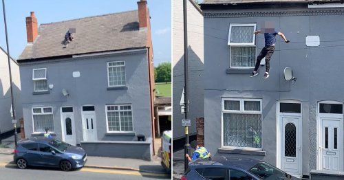 Man leaps from roof 'to escape police for growing cannabis plants'