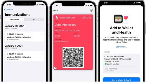 You can now add your COVID vaccine card to your Apple Wallet. Here's how