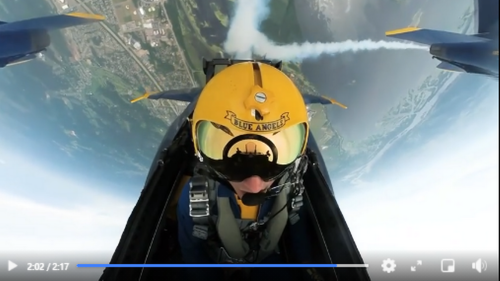 Nail-biting video from cockpit of Navy fighter jet is making social media nauseous