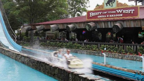 Log flume accident at Six Flags park sends two to hospital, New Jersey officials say