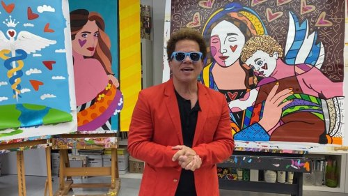 Miami pop artist Romero Britto's tropical retreat is for sale. Take a look inside