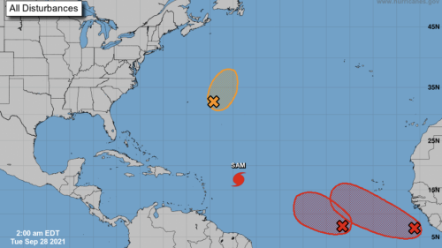 Peter forecast to come back as a depression, and two other systems are likely to form