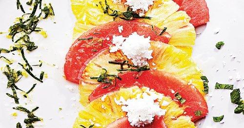 Receta de carpacho de frutas. ¡Rápido y delicioso!