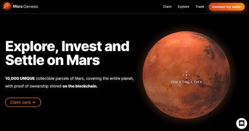 Mars Genesis «vende» 10.000 parcelas en Marte en «versión NFT» (vamos, que es de mentirijillas)