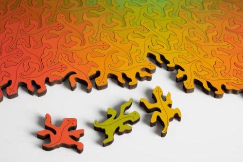 216 lagartijas: un puzzle que forma un patrón infinito sin centro ni forma definida