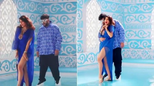 Watch the BTS video from the sets of Jacqueline Fernandez and Badshah`s`Paani Paani`
