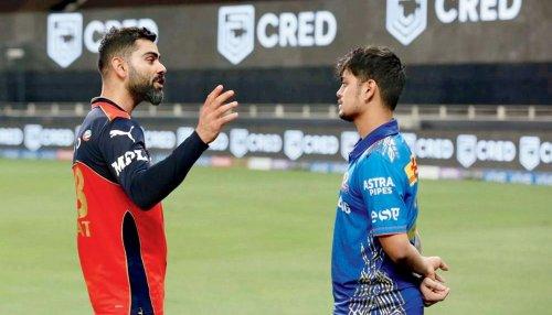Kohli gives pep talk to out-of-form Ishan Kishan