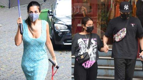Neha Kakkar, Rohanpreet Singh, Sara Ali Khan, Malaika Arora snapped in Bandra