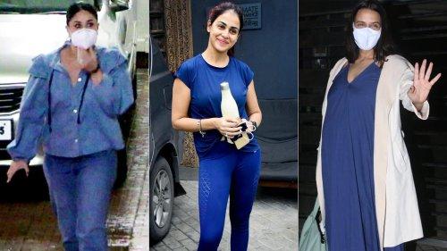 Neha Dhupia with Angad Bedi, Kareena Kapoor Khan, Genelia Deshmukh spotted in Bandra