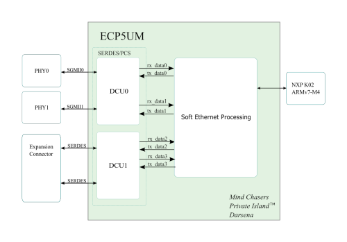 PCS / SERDES Architecture for Lattice ECP5 FPGA Open Source Network Processor