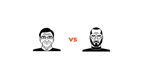 Bill Gates e Steve Jobs, due geni dell'informatica a confronto