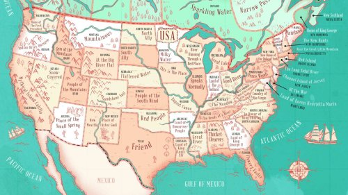 This Map Shows the Meanings of Place Names in the U.S. and Canada