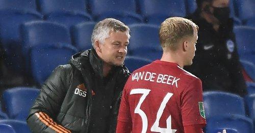 Solskjaer drops clear hint on Van de Beek's future on Man Utd return