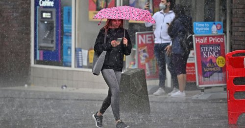 'Intense' thunder and rain storms to soak Brits all week as 60mm of rain to fall